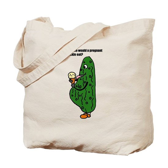Funny Pregnant Pickle Cartoon