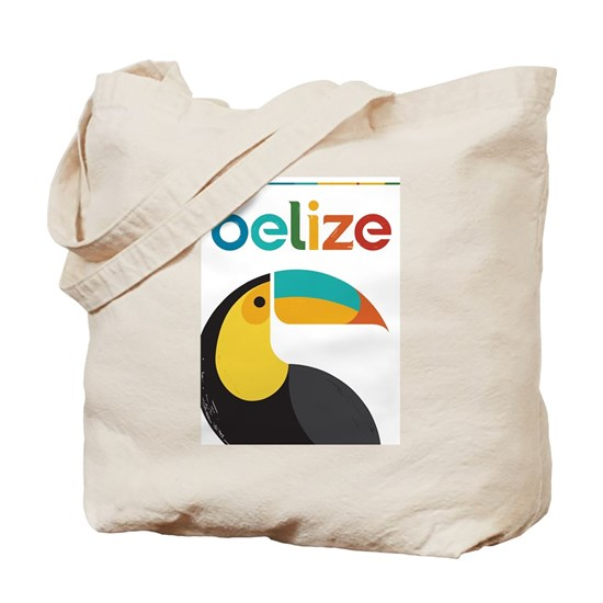 Belize Vintage Travel Poster with Toucan