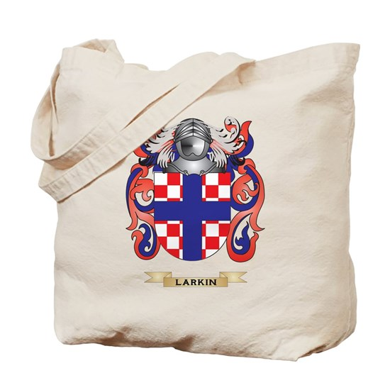 Larkin Coat Of Arms Family Crest Tote Bag By Tshirts