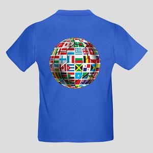 World Soccer Ball Kids Dark T-Shirt