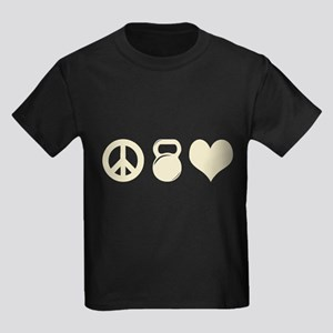Peace Weight Love Kids Dark T-Shirt