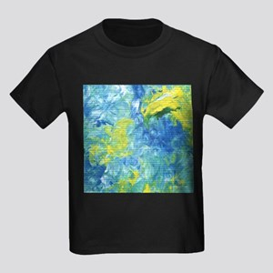 Yellow and Blue Abstract T-Shirt