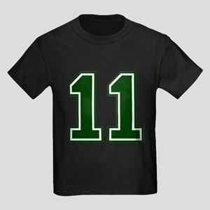 NUMBER 11 FRONT Kids Dark T-Shirt