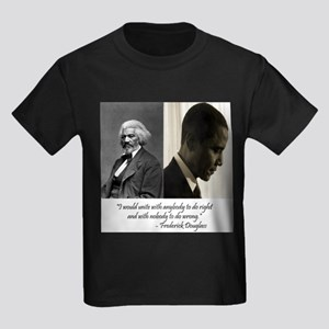 Douglass-Obama Kids Dark T-Shirt