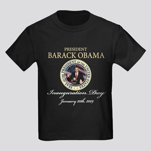 President Obama first black president Kids Dark T-