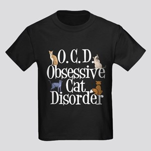 OCD Cats Kids Dark T-Shirt