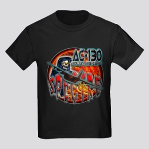 USAF AC-130 Spectre Gunship Kids Dark T-Shirt