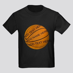 Personalized Basketball Kids Dark T-Shirt