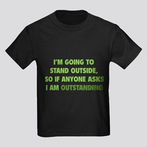 I Am Outstanding Kids Dark T-Shirt
