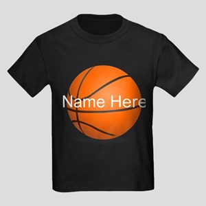 Customizable Basketball Ball Kids Dark T-Shirt
