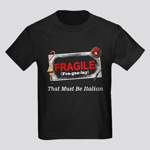 Fragile Christmas Story Kids Dark T-Shirt