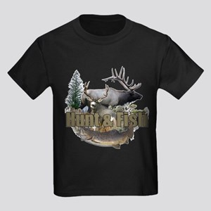 Hunt and Fish Kids Dark T-Shirt