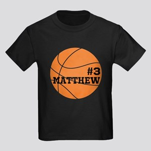 Custom Basketball Kids Dark T-Shirt