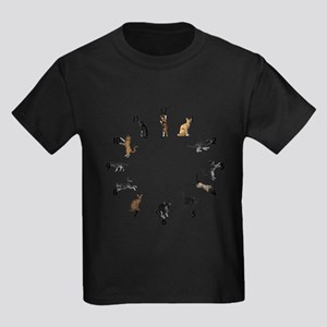 Playful Cats Kids Dark T-Shirt