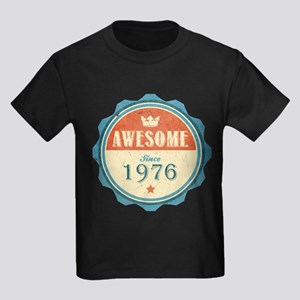 Awesome Since 1976 Kids Dark T-Shirt