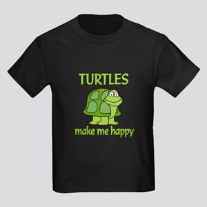 Turtle Happy Kids Dark T-Shirt