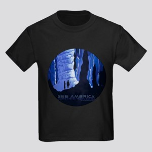 Caving Travel Cavern Vintage Travel Poster T-Shirt
