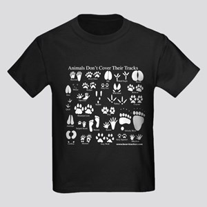 Animals Don't Cover Their Tra Kids Dark T-Shirt