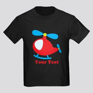 Blue & Red Toy Helicopter with Custom Text T-Shirt
