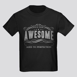 Personalized Birthday Aged To Pe Kids Dark T-Shirt