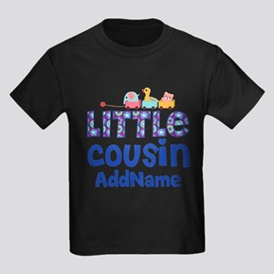 Personalized Little Cousin Kids Dark T-Shirt
