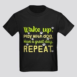 Wake Up Play With Dog Have A Great Day Rep T-Shirt