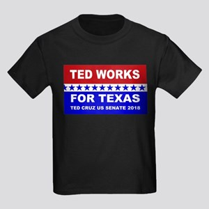 Ted works for Texas Kids Dark T-Shirt