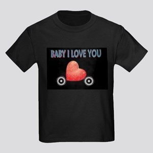 Jmcks Baby I love you Kids Dark T-Shirt