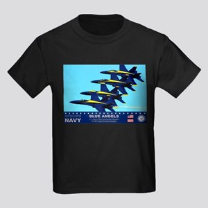Blue Angels F-18 Hornet Kids Dark T-Shirt