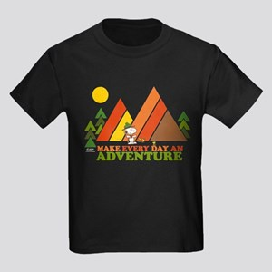 Snoopy-Make Every Day An Adventu Kids Dark T-Shirt