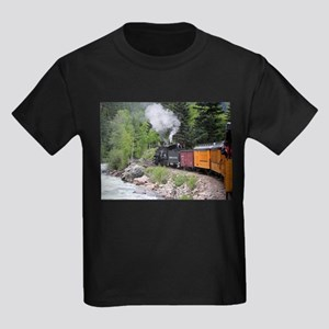 Steam train & river, Colorado T-Shirt