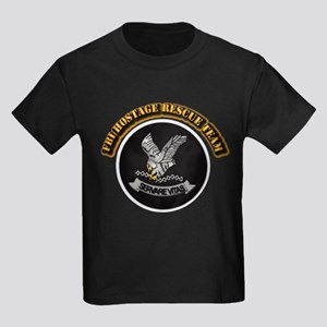 FBI HRT with Text Kids Dark T-Shirt
