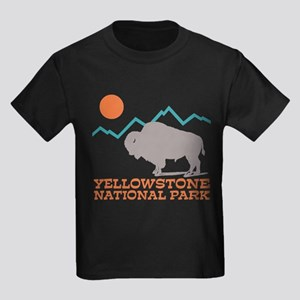 Yellowstone National Park Kids Dark T-Shirt