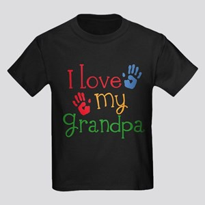 I Love Grandpa Kids Light T-Shirt