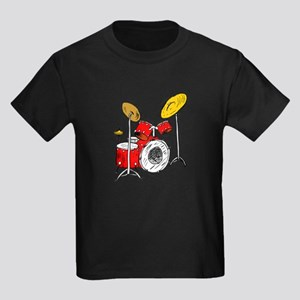 DRUM SET (4) Kids Dark T-Shirt