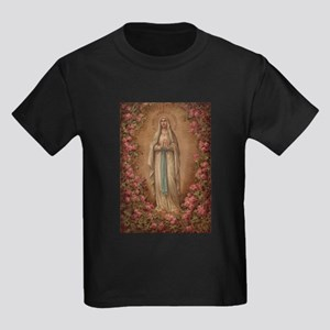 Our Lady Of Lourdes Kids Dark T-Shirt