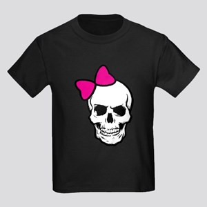 Pink Skull Kids Dark T-Shirt