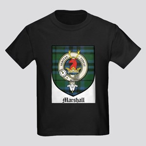 Marshall Clan Crest Tartan Kids Dark T-Shirt