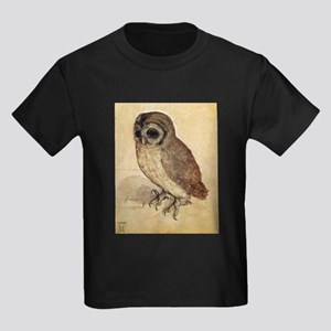 Durer The Little Owl Kids Dark T-Shirt