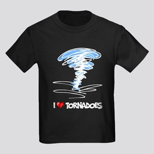 I Love Tornado Kids Dark T-Shirt
