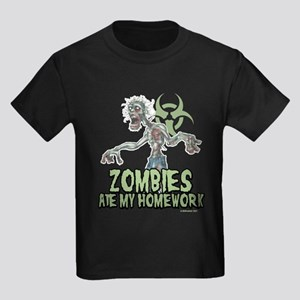 Zombies Ate My Homework Kids Dark T-Shirt