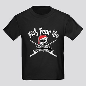 Fish Fear Me Kids Dark T-Shirt