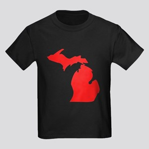 Red Michigan Silhouette T-Shirt