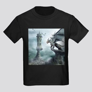 Tower Dragons Kids Dark T-Shirt