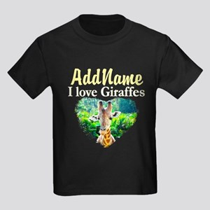 GIRAFFES RULE Kids Dark T-Shirt