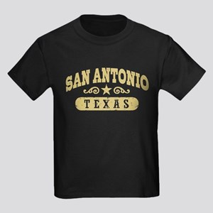 San Antonio Texas Kids Dark T-Shirt