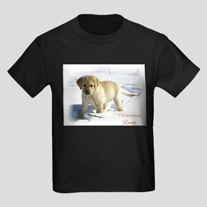Labrador Retriever Christmas Kids Dark T-Shirt