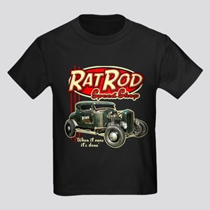 Rat Rod Speed Shop Kids Dark T-Shirt