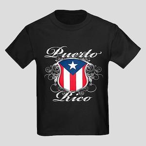 2d6440d12573 Puerto rican pride Kids Dark T-Shirt