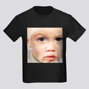Baby's face - Kid's Dark T-Shirt